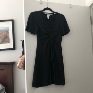 Black mini dress with keyhole in front